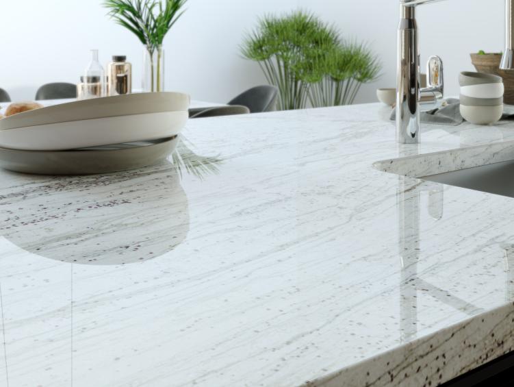 granite countertop with straight edge