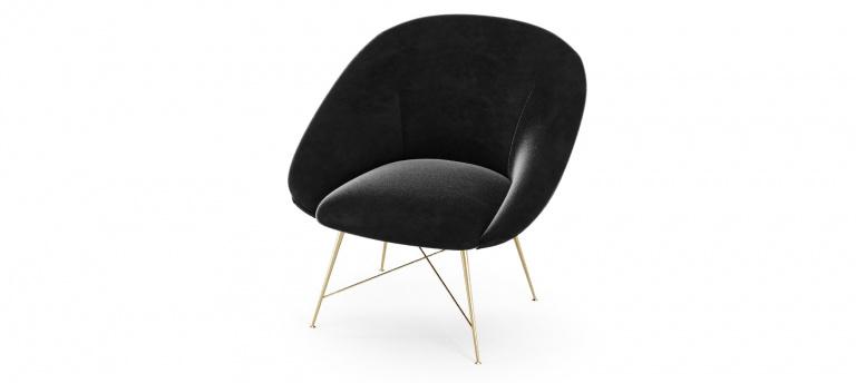 Black Armchair On White Background